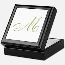 Gold Monogrammed Initial Keepsake Box