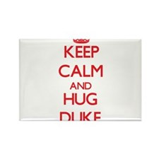 Keep calm and Hug Duke Magnets