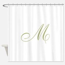 Gold Monogrammed Initial Shower Curtain