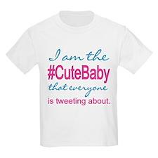 #Cute Baby Social Media T-Shirt