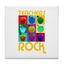Teachers Rock Tile Coaster