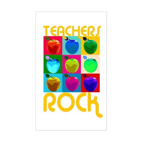 Teachers Rock Rectangle Sticker