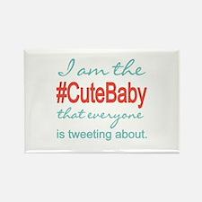 #Cute Baby Social Media Rectangle Magnet