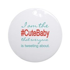 #Cute Baby Social Media Ornament (Round)
