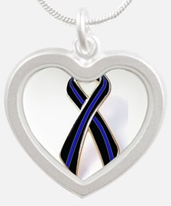 Police Princess Thin Blue Line Motif Necklaces
