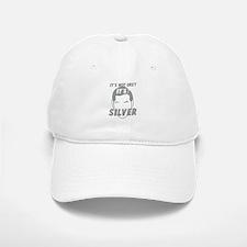 Its not Grey its SILVER Baseball Baseball Cap