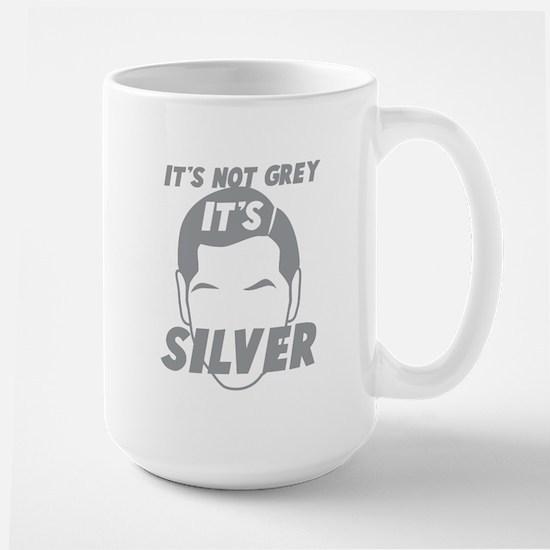 Its not Grey its SILVER Mugs