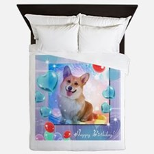 Happy birthday Corgi Queen Duvet