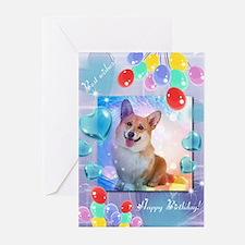 Happy Birthday Corgi Greeting Cards