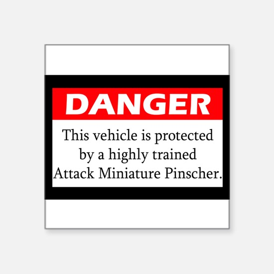 Attack Miniature Pinscher Sticker