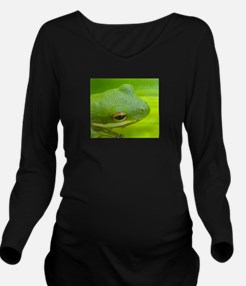 awesome frog Long Sleeve Maternity T-Shirt