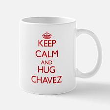 Keep calm and Hug Chavez Mugs
