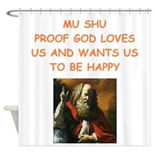 mu shu Shower Curtain