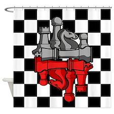 Chess Master Shower Curtain
