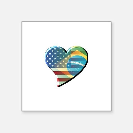 Meu Coracao Rectangle Sticker