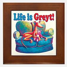 Life is Greyt! Framed Tile