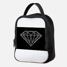 Diamond black Neoprene Lunch Bag