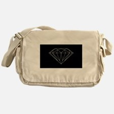 Diamond black Messenger Bag