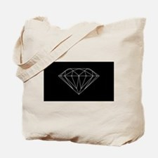 Diamond black Tote Bag