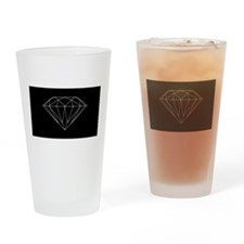 Diamond black Drinking Glass