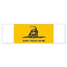 2-Flat Dont Tread Flag sticker.tif Bumper Bumper Sticker