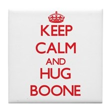 Keep calm and Hug Boone Tile Coaster