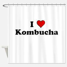 I Heart Kombucha Shower Curtain