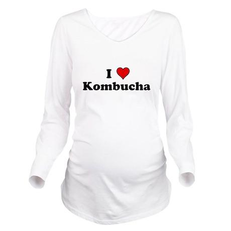 I Heart Kombucha Long Sleeve Maternity T-Shirt
