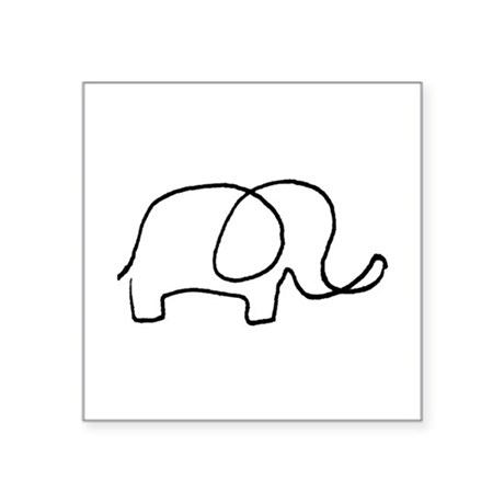 Little Elephant Oval Sticker