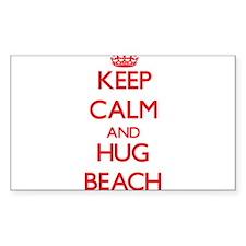 Keep calm and Hug Beach Decal