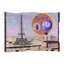 Paris Cityscape Aerial With Eiffel Tower, Pink Poo