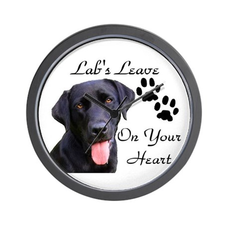 Pawprints on your heart Wall Clock