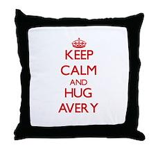 Keep calm and Hug Avery Throw Pillow