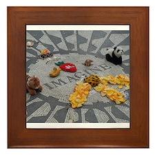 Imagine Strawberry Fields NYC Framed Tile