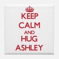 Keep calm and Hug Ashley Tile Coaster