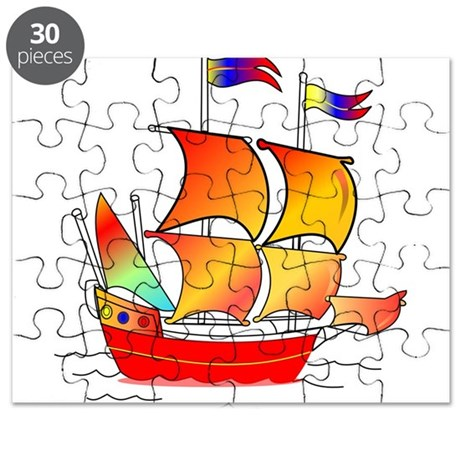 Whimsical Pirate Ship Puzzle