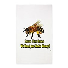 Save The Bees 3'x5' Area Rug
