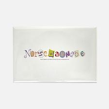 Nursewannabe Student Nurse Rectangle Magnet (10 pa