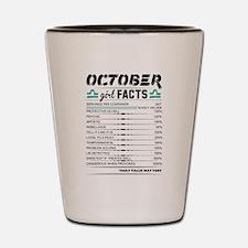October Girl Facts Libra Shot Glass