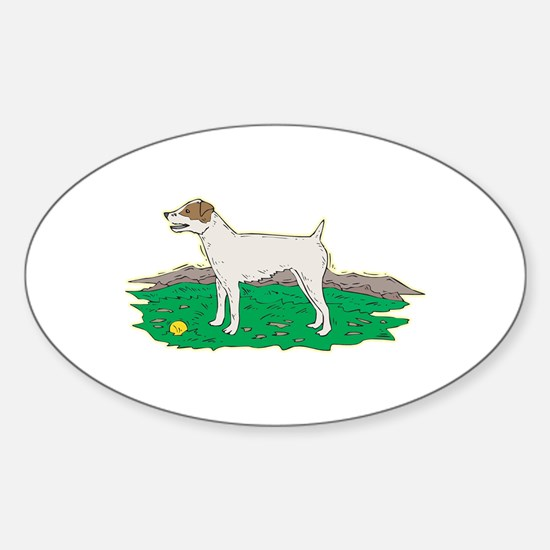Jack Russell Oval Decal