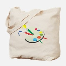 Artist Pallete and Paint Tote Bag