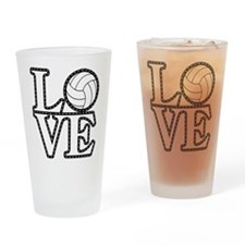 Love Vollebyabll Drinking Glass