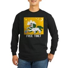 Free Tibet - Old Flag - Dark Long Sleeve T-Shirt