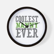 Coolest Nanny Ever Wall Clock