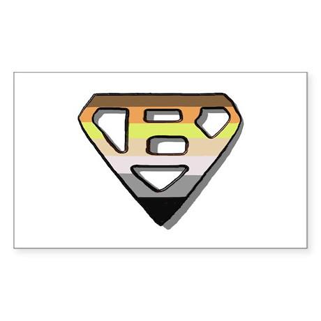 SUPER BEAR BEAR PRIDE/OUTLINE Sticker (Rectangular