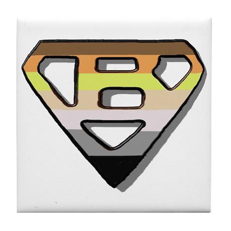 SUPER BEAR BEAR PRIDE/OUTLINE Tile Coaster