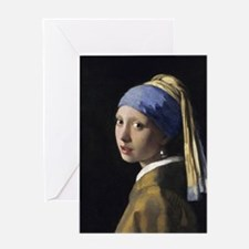 Jan Vermeer Girl With A Pearl Earrin Greeting Card