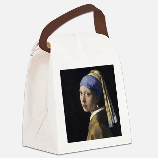 Jan Vermeer Girl With A Pearl Ear Canvas Lunch Bag