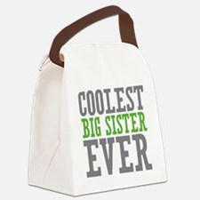 Coolest Big Sister Ever Canvas Lunch Bag