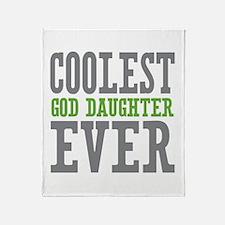 Coolest God Daughter Ever Throw Blanket